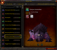 wow addon The Hunter's Menagerie