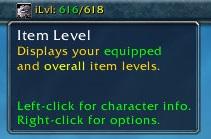 wow addon Titan Panel [Item Level]