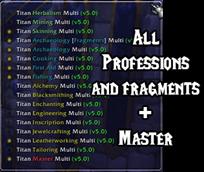 wow addon Titan Panel [Professions] Multi