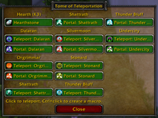 wow addon Tome of Teleportation