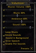 wow addon Volumizer