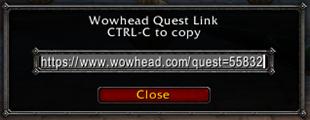 wow addon Wowhead Quick Link
