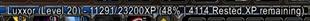 XP Bar Text